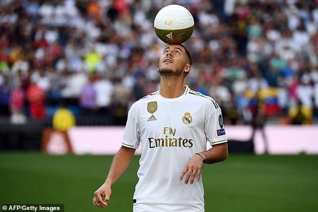 Eden Hazard rạng rỡ ra mắt 50.000 cổ động viên Real Madrid - 12