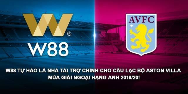 W88 chính thức trở thành đối tác của Aston Villa mùa giải NHA 2019/20 - 1