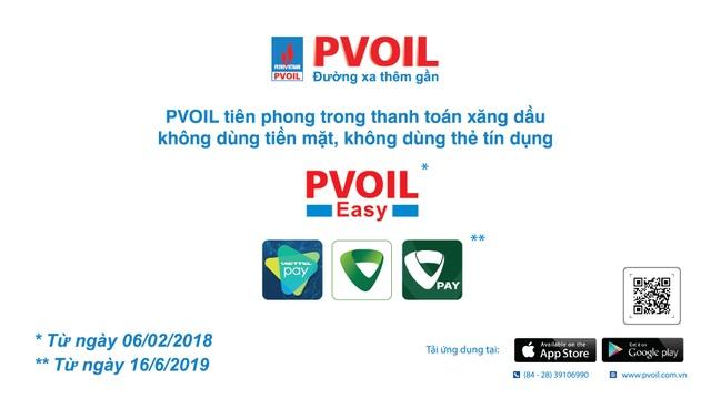PVOIL tiên phong trong thanh toán mua xăng dầu không dùng tiền mặt, không dùng thẻ tín dụng - 1