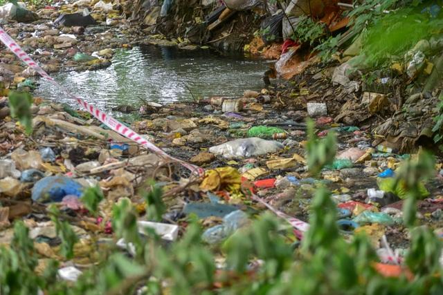 Hồ giữa trung tâm Hà Nội ngập rác thải - 8