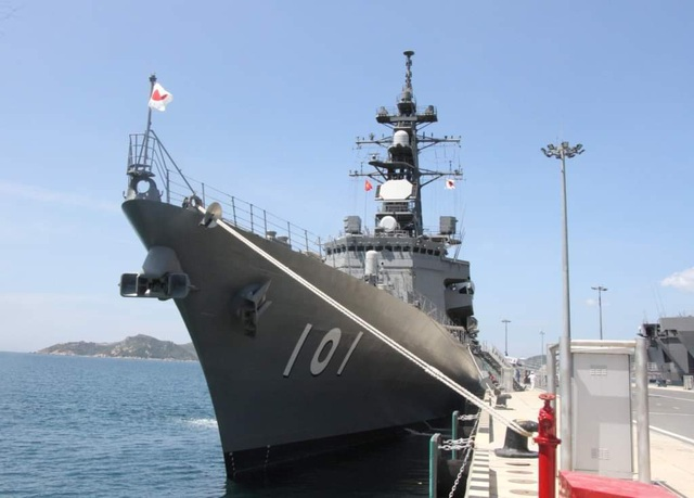 Two main Japanese warships visited Cam Ranh - 3