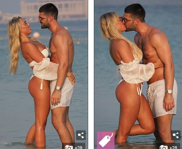 Amber Turner tình tứ bên bạn trai trên bãi biển Dubai - 6