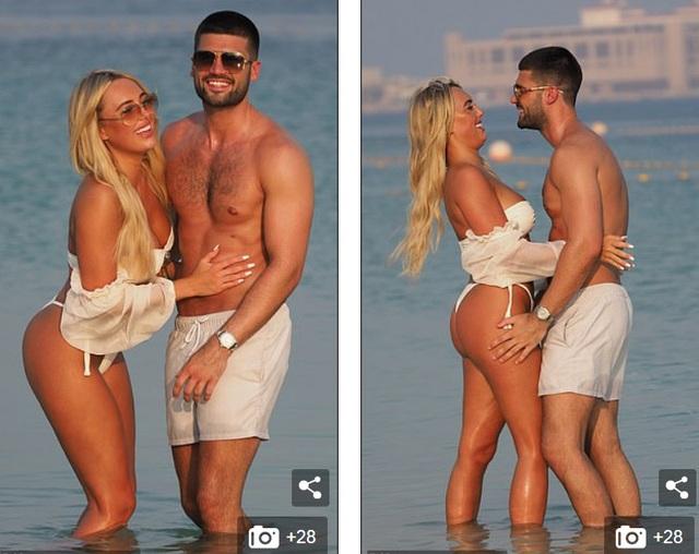 Amber Turner tình tứ bên bạn trai trên bãi biển Dubai - 3