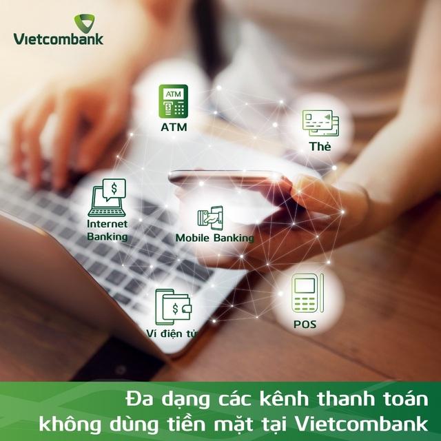 """Vietcombank hưởng ứng mạnh mẽ """"Ngày không dùng tiền mặt 16/06"""" - 1"""