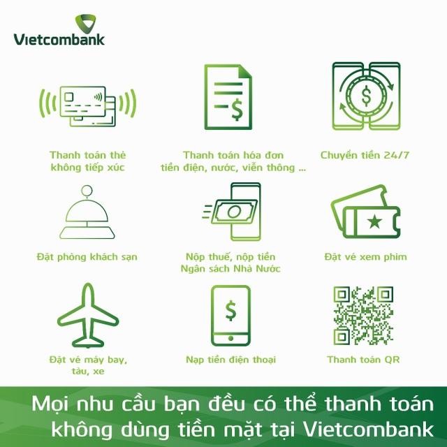 """Vietcombank hưởng ứng mạnh mẽ """"Ngày không dùng tiền mặt 16/06"""" - 2"""
