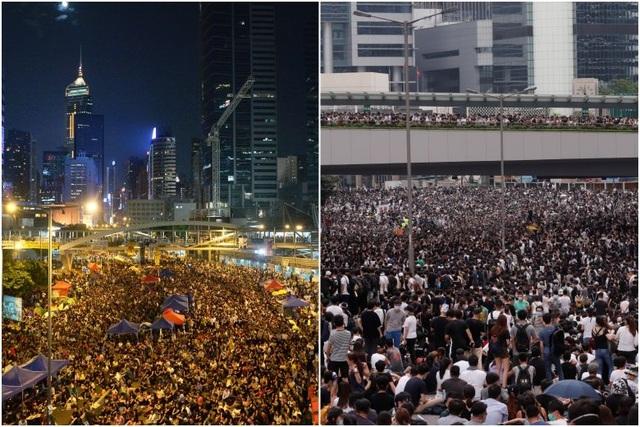"""Điểm khác biệt giữa 2 cuộc biểu tình làm """"rung chuyển"""" Hong Kong trong 5 năm qua"""