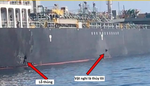 Mỹ thu được mảnh vỡ nghi giống thủy lôi Iran trên tàu dầu bị tấn công - 1