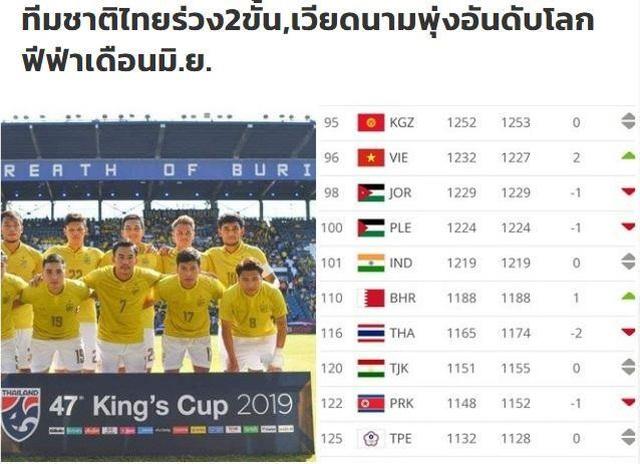 Báo Thái Lan thất vọng khi đội nhà kém tuyển Việt Nam 20 bậc - 1