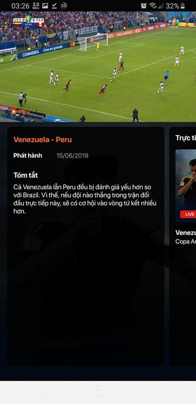 Hướng dẫn xem trực tiếp các trận đấu tại Copa America 2019 trên smartphone và máy tính - 2