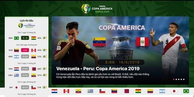 Hướng dẫn xem trực tiếp các trận đấu tại Copa America 2019 trên smartphone và máy tính - 3