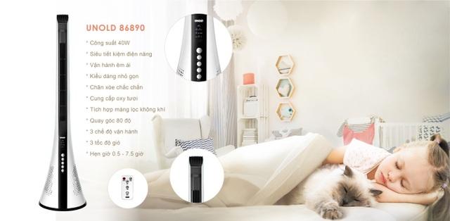 Quạt tháp lọc không khí Unold 86890: Giải pháp làm mát tuyệt vời cho người mắc bệnh về đường hô hấp - 3