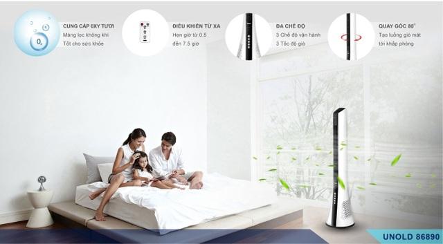 Quạt tháp lọc không khí Unold 86890: Giải pháp làm mát tuyệt vời cho người mắc bệnh về đường hô hấp - 4