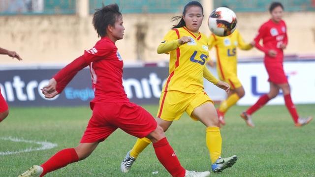 Hà Nội thắng dễ TPHCM 2 tại giải bóng đá nữ vô địch quốc gia 2019 - 1