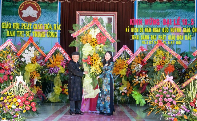 Chủ tịch MTTQ Việt Nam  dự kỷ niệm 80 năm Ngày khai sáng đạo Phật giáo Hòa Hảo