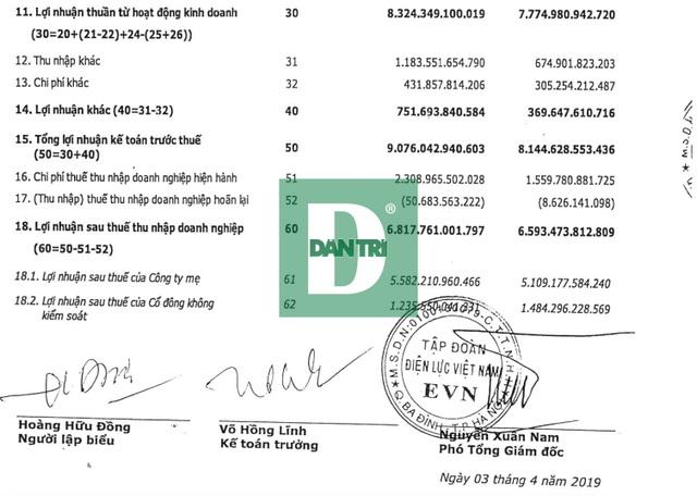 EVN báo lãi hơn 9.000 tỷ đồng năm 2018 - 2