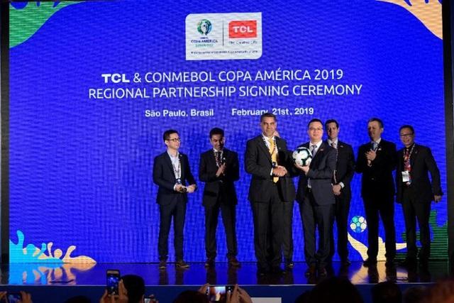 TCL hợp tác với Liên đoàn Bóng đá Nam Mỹ (CONMEBOL) trong mùa giải mới Copa America 2019 - 1