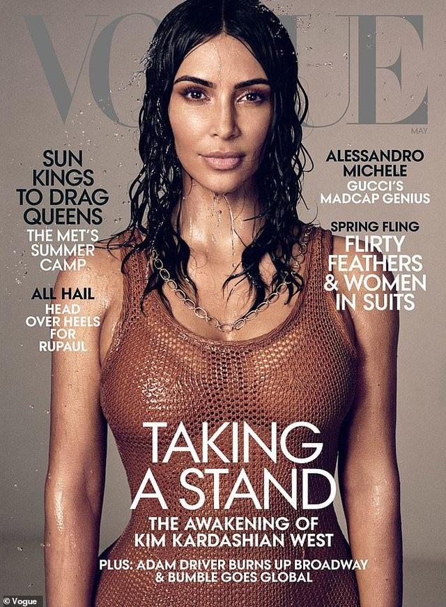 Kim Kardashian xuất hiện trên ba phiên bản trang bìa Vogue Nhật Bản - 4