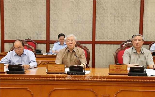 Tổng Bí thư, Chủ tịch nước họp Bộ Chính trị, xem xét công tác nhân sự - 1