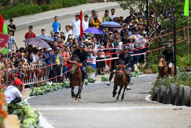 Hàng ngàn du khách đổ về Sa Pa tham dự lễ hội đua ngựa Vó ngựa trên mây - 1