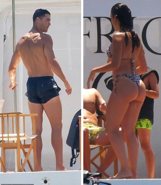 Bạn gái C.Ronaldo diện áo tắm khoe dáng bốc lửa trên du thuyền - 1