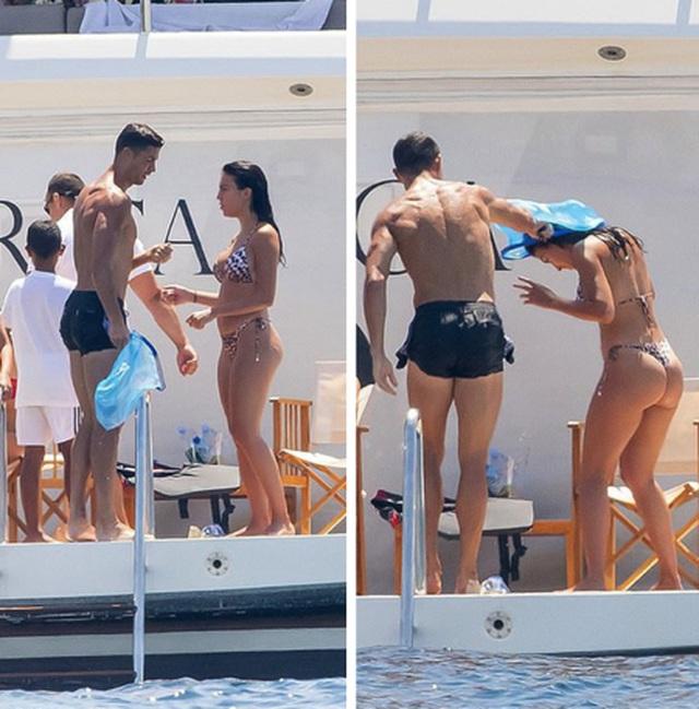 Bạn gái C.Ronaldo diện áo tắm khoe dáng bốc lửa trên du thuyền - 4