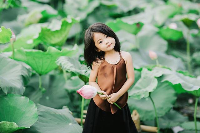 Bé gái Bắc Ninh xinh như thiên thần bên hoa sen - 7