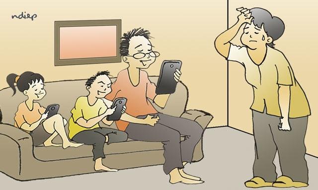 Chúng ta đang ôm điện thoại nhiều hơn nhìn vào mắt nhau! - 1
