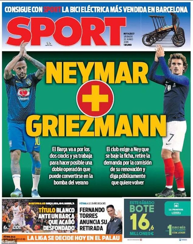 Nhật ký chuyển nhượng ngày 23/6: Barcelona muốn mua Neymar và Griezmann - 1