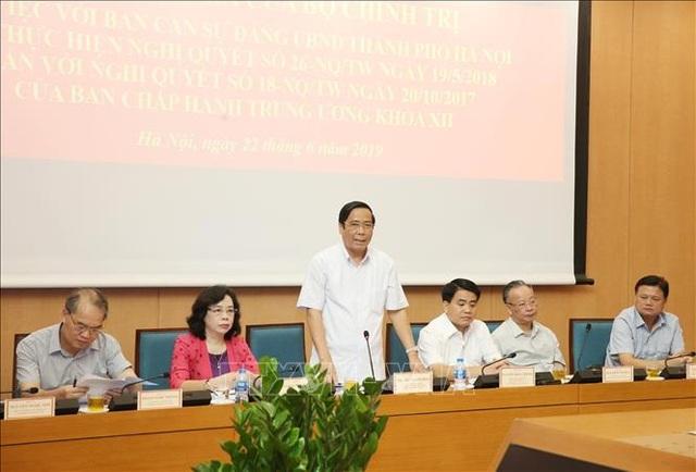 Đoàn kiểm tra Bộ Chính trị làm việc với Hà Nội về xây dựng đội ngũ cán bộ cấp chiến lược - 1