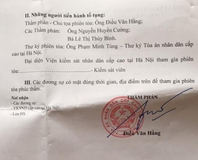 Xử phúc thẩm vụ người dân kiện Giám đốc Bảo hiểm xã hội Bắc Giang ra toà - 2