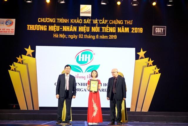 Hồng  Hoa Organic Care – Vinh dự lọt Top 50 Thương hiệu Nhãn hiệu Nổi tiếng năm 2019 - 2