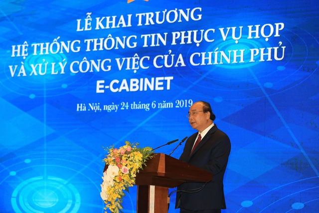 Phiên họp Chính phủ đầu tiên qua hệ thống E-Cabinet - 1