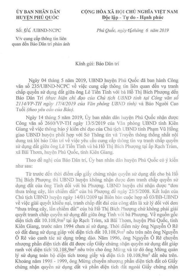 Chủ tịch huyện Phú Quốc ký văn bản cung cấp nhiều thông tin không đúng sự thật? - 2