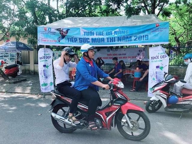 Đà Nẵng: Xe ôm miễn phí đưa đón thí sinh đi thi - 3