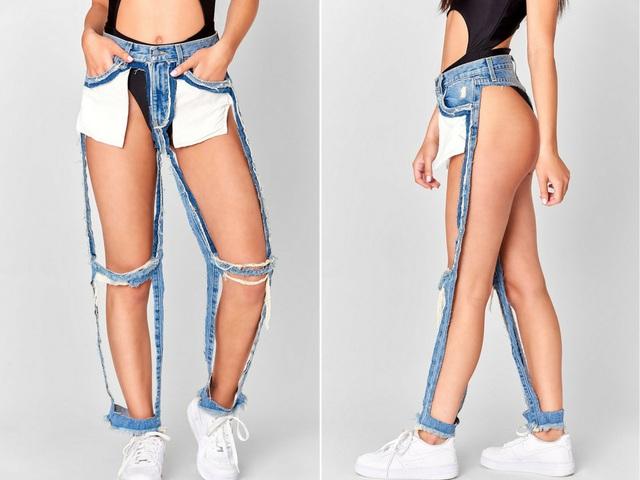 23 mẫu thời trang jeans lạ lùng phải thấy mới dám... tin là có thật - 11