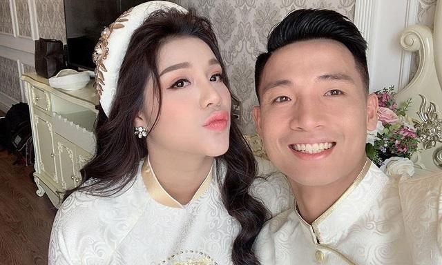 Hậu vệ Bùi Tiến Dũng làm lễ ăn hỏi với bạn gái ở Bắc Ninh - 1