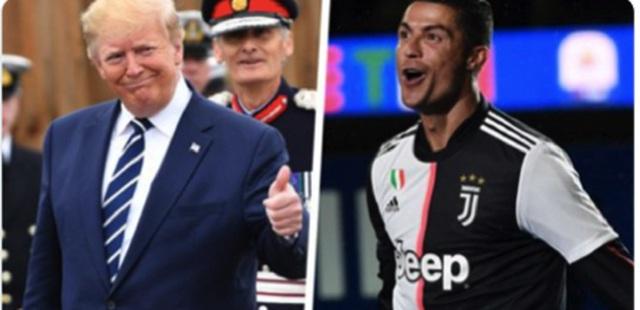 C.Ronaldo bất ngờ được Tổng thống Donald Trump khen ngợi - 1