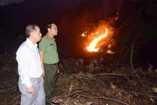Hàng trăm người căng mình chữa cháy ở khu rừng cuồn cuộn lửa trong đêm - 3