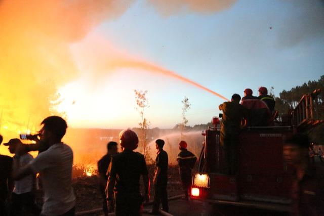 Hàng trăm người căng mình chữa cháy ở khu rừng cuồn cuộn lửa trong đêm - 5