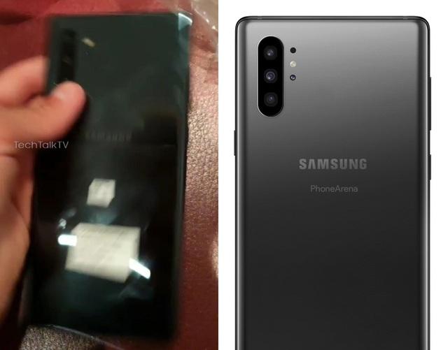 Lộ ảnh trên tay Galaxy Note 10 với camera đục lỗ chính giữa màn hình - 2