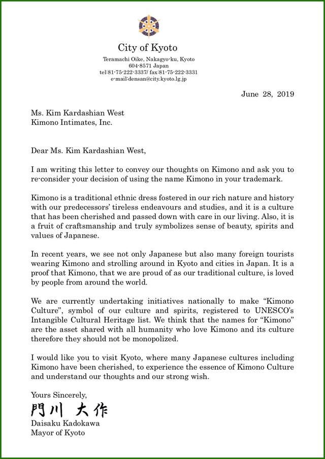 """Đặt tên trang phục nội y là """"Kimono"""", Kim Kardashian nhận thư ngỏ từ thị trưởng Nhật Bản - 1"""