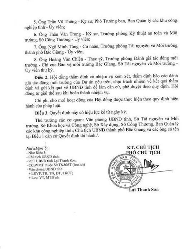 Phát lộ một dự án nghìn tỷ bất chấp pháp luật về môi trường tại Bắc Giang! - 7