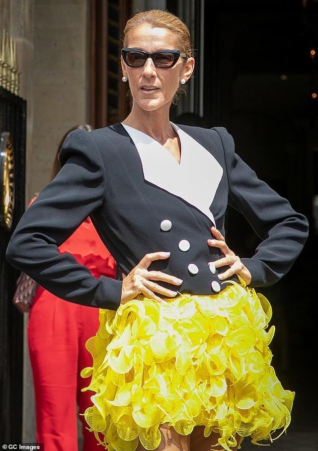 Celine Dion khoe chân dài với váy ngắn - 2