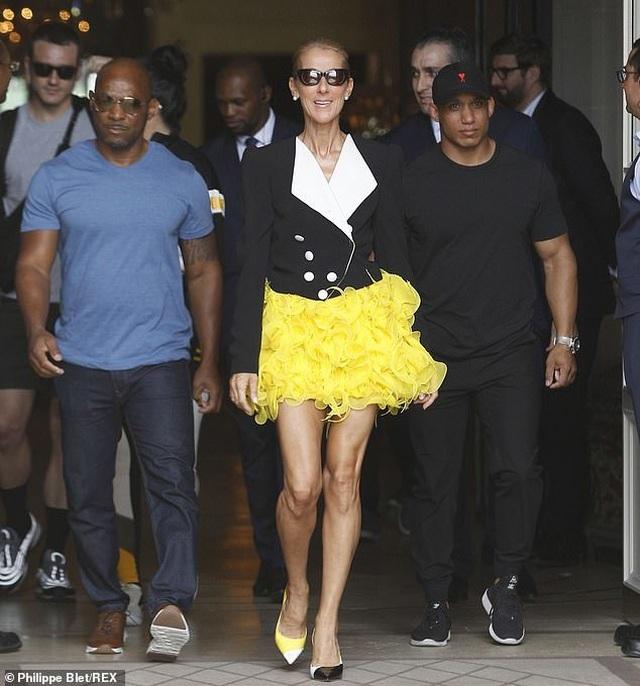 Celine Dion khoe chân dài với váy ngắn - 3