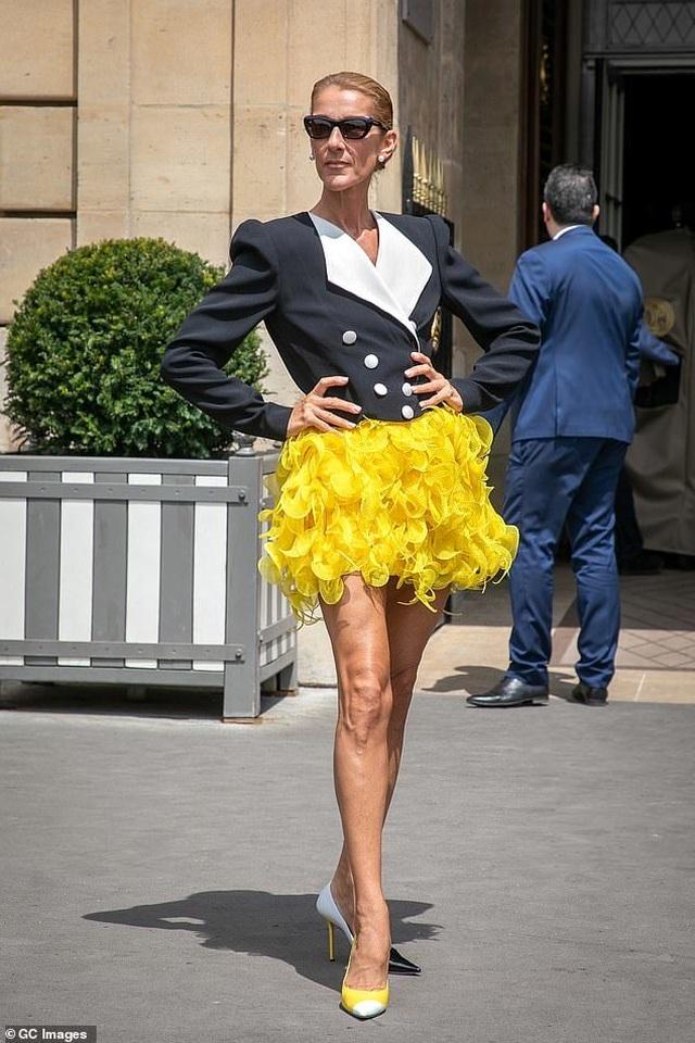 Celine Dion khoe chân dài với váy ngắn - 5