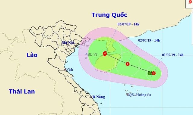 Vùng áp thấp trên biển đã mạnh lên thành áp thấp nhiệt đới - 1