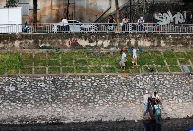 Hà Nội: Máy làm sạch sông Tô Lịch được đưa lên bờ bảo dưỡng - 3
