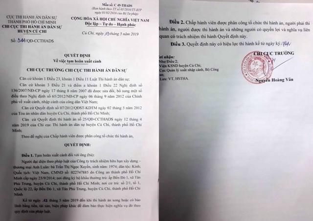 Tạm hoãn xuất cảnh lãnh đạo công ty lừa bán đất trong quy hoạch tại TP.HCM! - 1