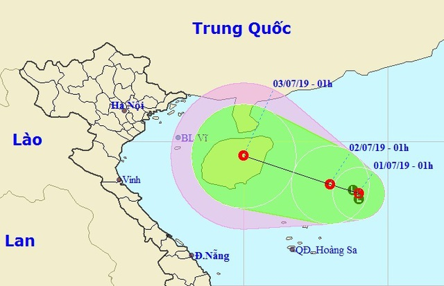 Xuất hiện vùng áp thấp trên Biển Đông có khả năng mạnh lên thành bão - 1
