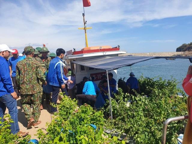 Đoàn viên, thanh niên Quảng Trị trồng hoa giấy làm đẹp đảo Cồn Cỏ - 1